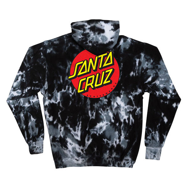 Santa Cruz Classic Dot Pullover Hooded Sweatshirt Multi Black