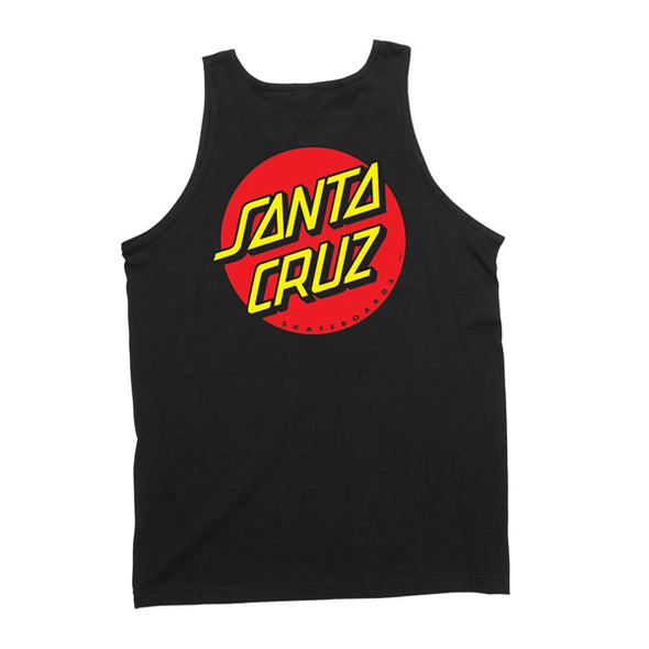 Santa Cruz Classic Dot Regular Tank Black