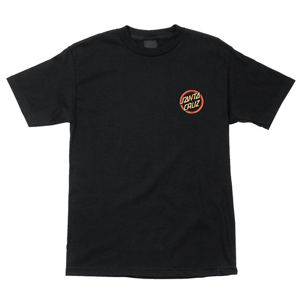 Santa Cruz Gleam Dot Regular S/S T-Shirt Black