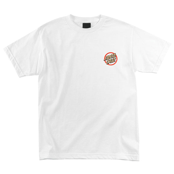 Santa Cruz Gleam Dot Regular S/S T-Shirt White