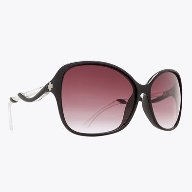 Spy Optic Fiona Black with Clear/Happy Merlot Fade (670299220357)
