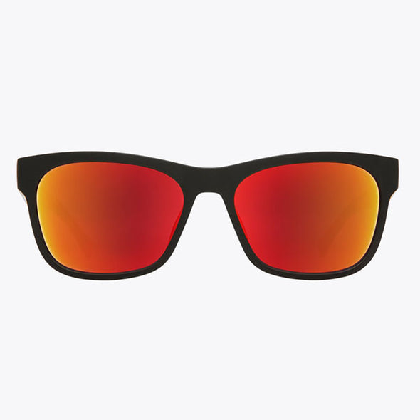 Spy Optic Sundowner Matte Black with Matte Crystal/Gray with Red Spectra (673513080765)