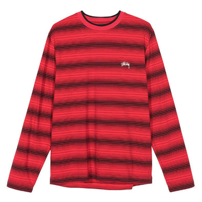 Stussy Ombre LS Crew Red