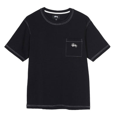 Stussy Stock Pocket Crew Black