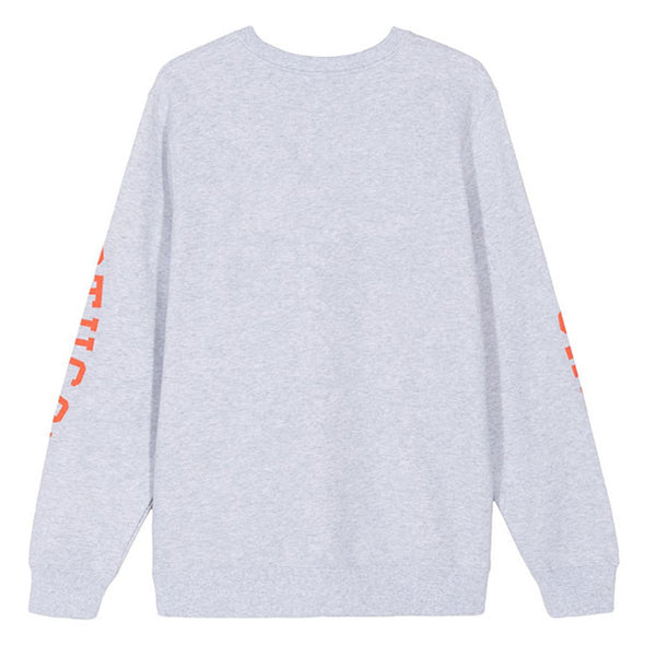 Stussy Triple Arch Crew Ash Heather