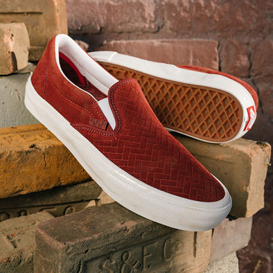 Vans x NJ Skate Slip-On Brick/White