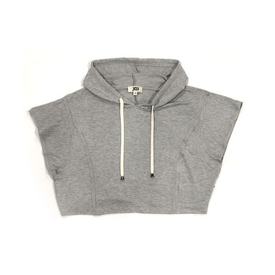 XB Women's Skylar Crop Hoodie Top Heather Grey