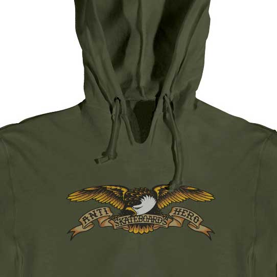 Anti Hero Eagle Hoodie Army - Xtreme Boardshop
