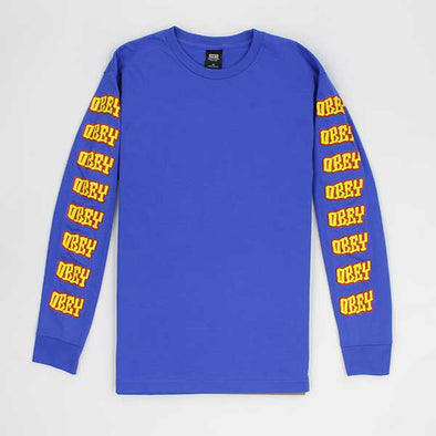 Obey Better Days L/S Royal Blue - Xtreme Boardshop
