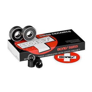 Bones Swiss Ceramics Bearings (Set of 8) - Xtreme Boardshop