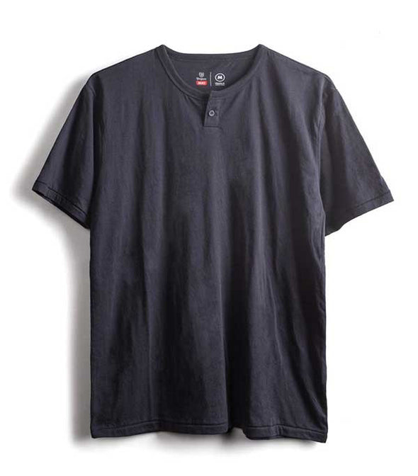 Brixton Basic S/S Henley SU17 Washed Black - Xtreme Boardshop