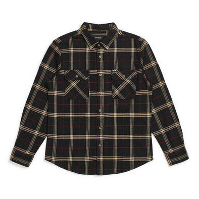 Brixton Bowery L/S Flannel Black/Ivory