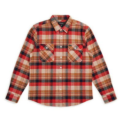 Brixton Bowery L/S Flannel Red/Copper