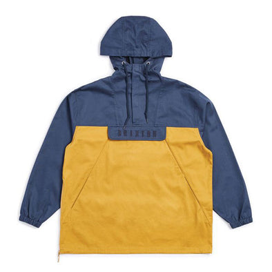 Brixton Breton Anorak Jacket Washed Navy/Maize