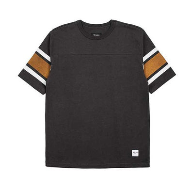 Brixton Cleveland Short Sleeve Knit Washed Black - Xtreme Boardshop
