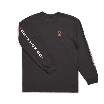 Brixton x Independent Frame L/S Standard Tee Washed Black