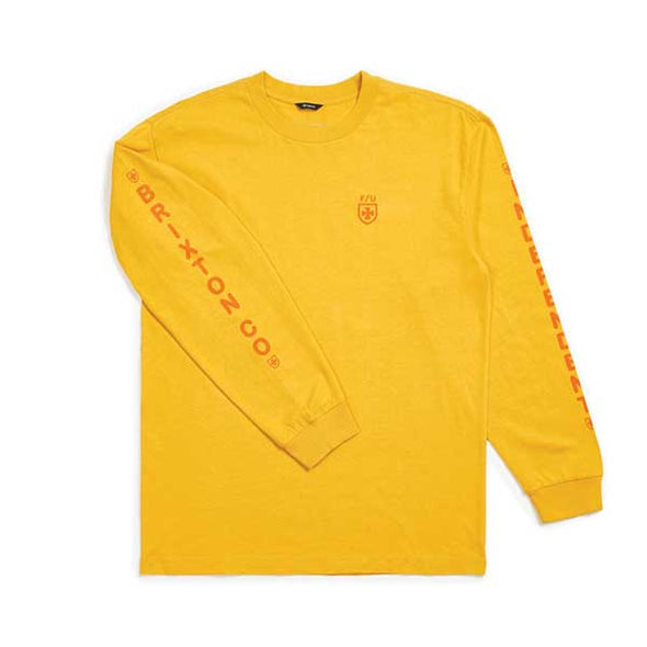 Brixton x Independent Frame L/S Standard Tee Yellow