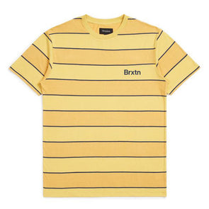 Brixton Hilt Print S/S Knit Sunset Yellow/Washed Navy