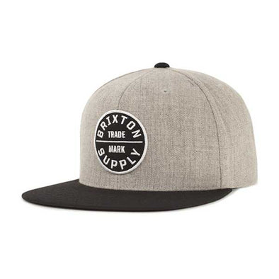 Brixton Oath III Snapback SP19 Heather Grey/Black