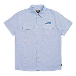 Brixton x Independent Officer S/S Woven Light Blue
