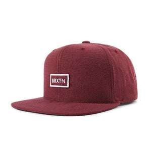 Brixton Rift II MP Snapback SP19 Burgundy