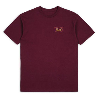Brixton Stith S/S Standard Tee Burgundy/Red