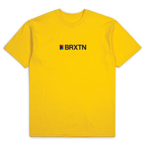 Brixton Stowell IV S/S Standard Tee Yellow