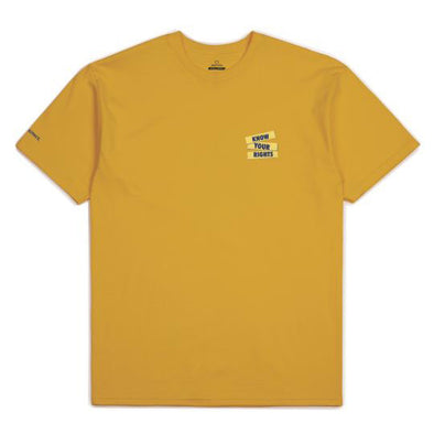 Brixton Strummer Know Your Rights S/S Standard Tee Mustard