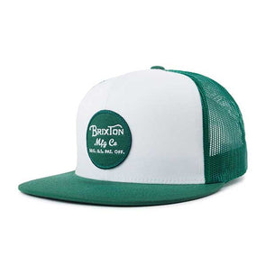 Brixton Wheeler Mesh Cap SP19 White/Leaf