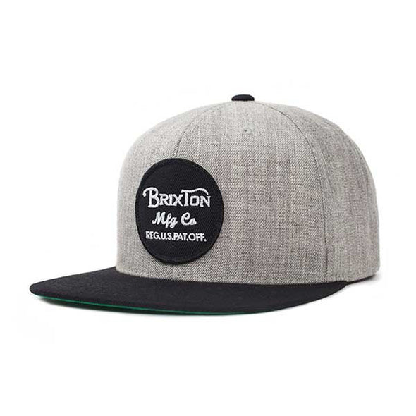 Brixton Wheeler Snapback Light Heather Grey/Black - Xtreme Boardshop