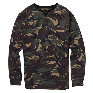 Burton 2019 Men's Crown Bonded Crew Sweatshirt Seersucker Camo