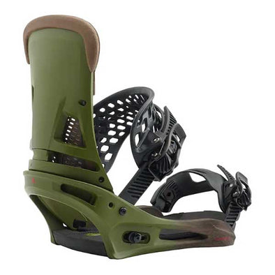 Burton 2019 Men's Malavita Re:Flex™ Snowboard Binding Camp On Green Size M (8-11)
