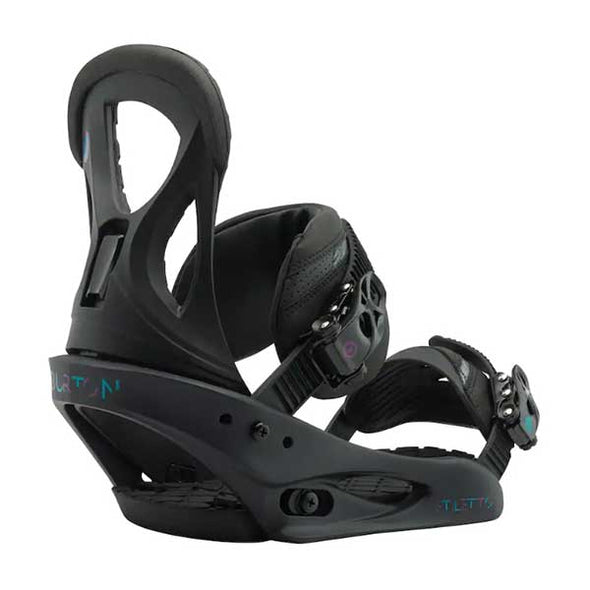 Burton 2019 Women's Stiletto Re:Flex™ Snowboard Binding Black Matte Size M (6-8)