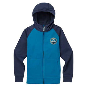 Burton 2019 Boys' Crown Bonded Full-Zip Hoodie Celestial/Mood Indigo - Xtreme Boardshop