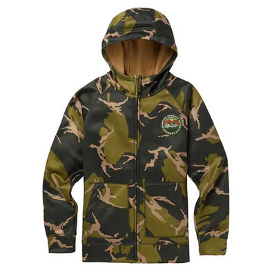 Burton 2019 Boys' Crown Bonded Full-Zip Hoodie Mtn Camo - Xtreme Boardshop