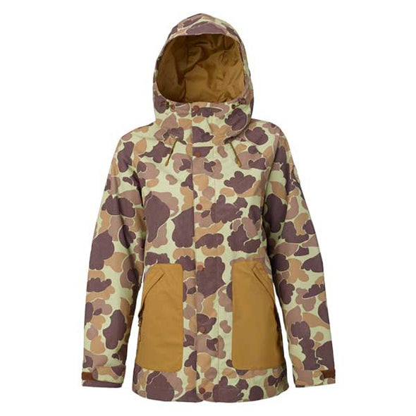 Burton 2018 Women's Eastfall Jacket Bean Camo/Dull Gold - Xtreme Boardshop
