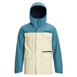 Burton 2020 Men's Covert Jacket Almond Milk/Storm Blue Ripstop