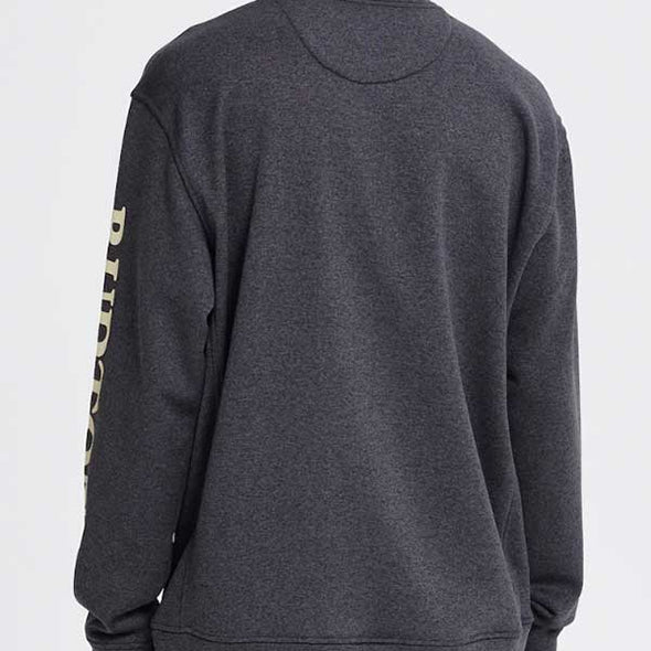 Burton 2019 Men's Oak Crew Sweatshirt True Black Heather