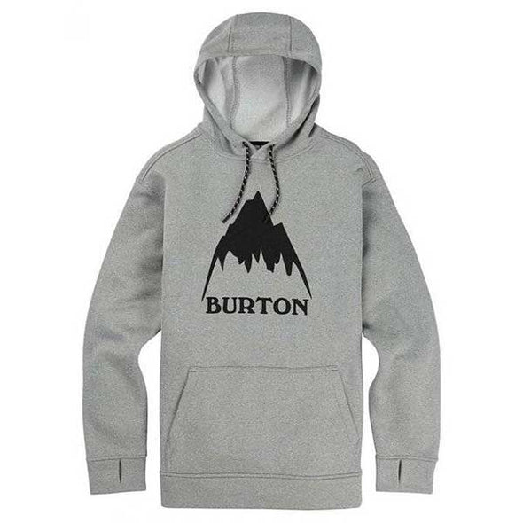 Burton 2019 Men's Oak Pullover Hoodie Monument Heather