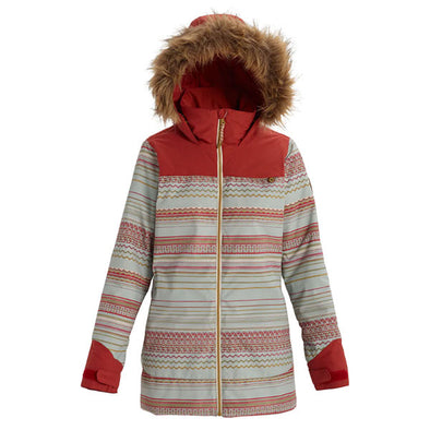 Burton 2020 Women's Lelah Jacket Aqua Gray Revel Stripe