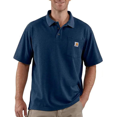 Carhartt Contractor's Work Pocket Polo Dark Cobalt Blue Heather
