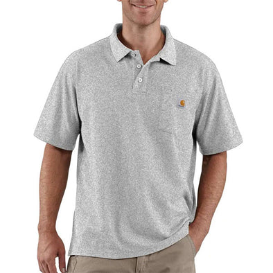 Carhartt Contractor's Work Pocket Polo Heather Grey