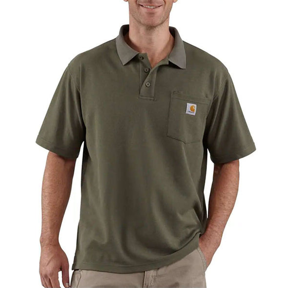 Carhartt Contractor's Work Pocket Polo Moss