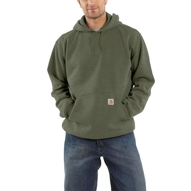 Carhartt Midweight Hooded Pullover Sweatshirt Winter Moss Heather