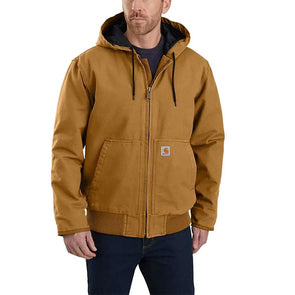 Carhartt Washed Duck Insulated Active Jacket Carhartt Brown