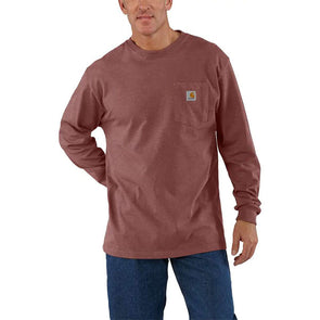 Carhartt Workwear Pocket Long-Sleeve T-Shirt Iron Ore Heather