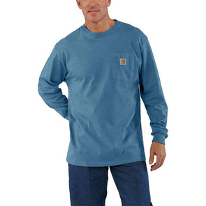Carhartt Workwear Pocket Long-Sleeve T-Shirt Ocean Blue Heather