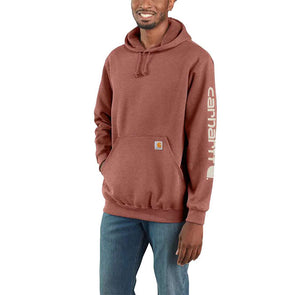 Carhartt Midweight Hooded Logo Sweatshirt  Auburn Heather