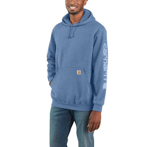 Carhartt Midweight Hooded Logo Sweatshirt Coastal Heather