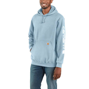 Carhartt Midweight Hooded Logo Sweatshirt Tourmaline Heather